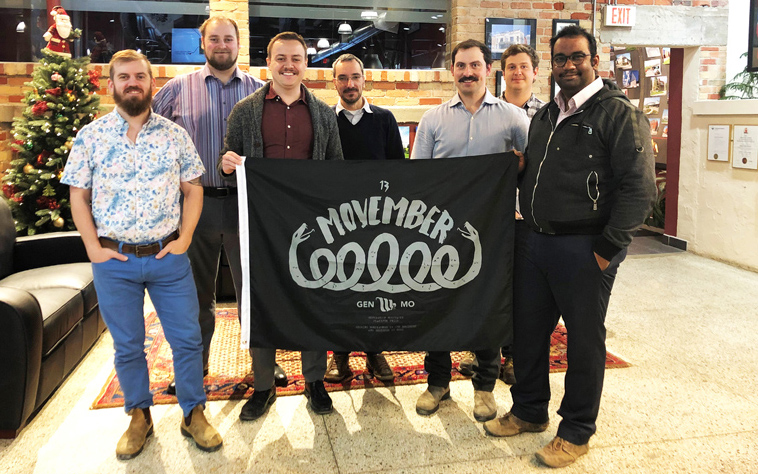 NA Engineering Associates Inc. Surpasses Movember Team Goal